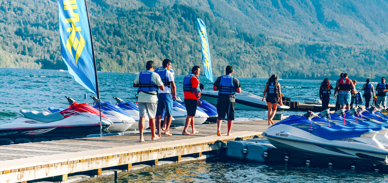 Cultus Lake Marina boat jet ski rentals