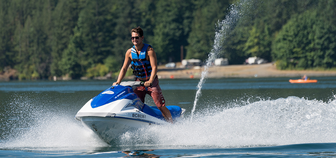 Cultus Lake Marina jet-ski rental on the lake